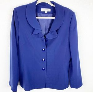 Tahari Blue Button Down Career Blazer | 14
